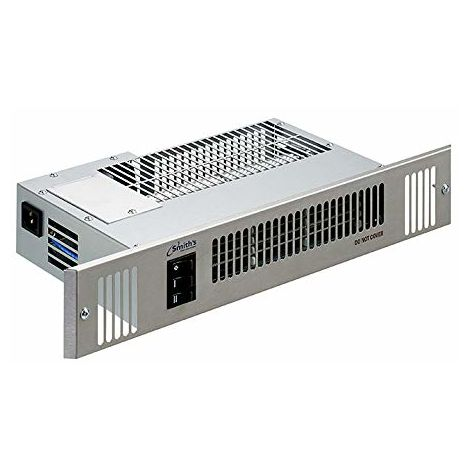 Authorised Distributor - Smiths Space Saver Slimline SS80E Electric Kitchen Plinth Heater with Stainless Steel Grille - fits IKEA style 80mm plinth heights - HPSS10073