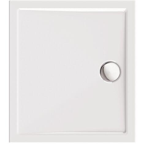 Calmwaters® - Modern Select - Flache Acryl-Duschtasse in 90 x 80 x 2,5 cm in eckiger Form mit Abfluss in 90 mm - 01SL3347