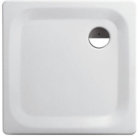 'aquaSu® Stahl-Brausewanne Sunda   Extra flach   80 x 80 x 2,5 cm Weiß
