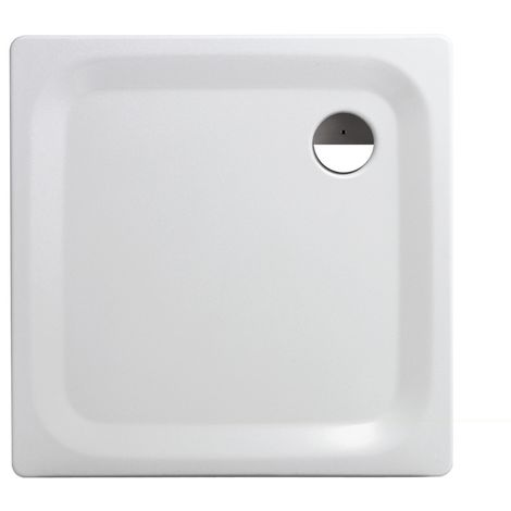'aquaSu® Stahl-Brausewanne Sunda   Extra flach   90 x 90 x 2,5 cm   Weiß   Duschwanne   Duschtasse   Brausewanne quadratisch   01414 4