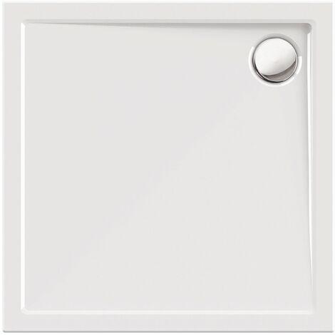 Calmwaters® - Modern Select - Große Duschtasse in 100 x 100 cm aus Acryl-Kunststoff & Abfluss mit 90 mm Durchmesser - 01SL2985