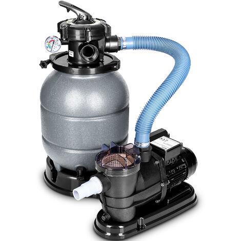 tillvex Sandfilteranlage mit Pumpe Filteranlage Sandfilter Filterkessel Pool Filterpumpe