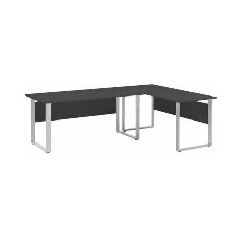 Set aus 2x Schreibtischen mit Blickschutz   Möbelpartner   Anthrazit tisch
