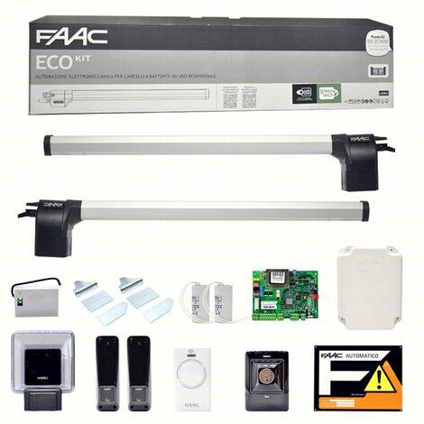 Faac Eco Kit 412 Automazione Per Cancello Battente Cancelli Ante Anta Battenti