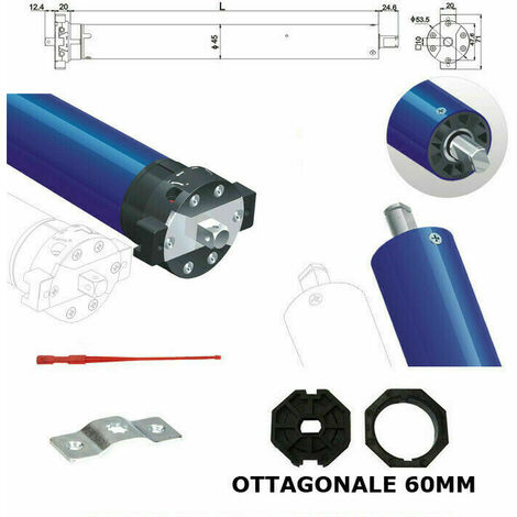 Motore Per Tapparelle 50 Nm 100kg Tapparella Elettrica Faac Came Somfy Rib