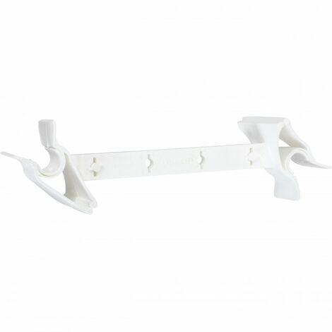 Entrebâilleur de fenêtre plastique blanc, SOCONA Airclips