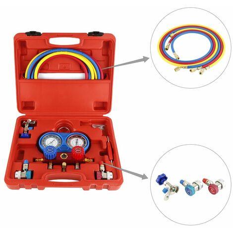 Gauge kit gruppo manometrico per R134a collettore del refrigerante per sistemi di climatizzazione per autoveicoli
