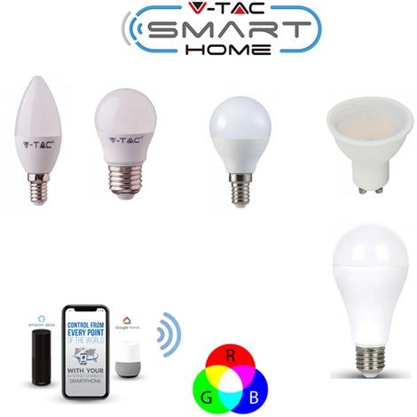 E27 E14 GU10 4.5W 10W 15W Wifi Smart LED RGB W CAL Lampadina per Echo Amazon Alexa Google Home VTAC