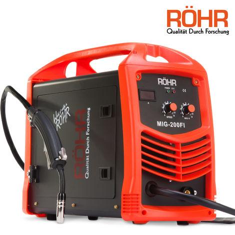 RÖHR MIG-200FI - MIG Welder Inverter IGBT 240V / 200 amp DC Gas Flux Wire Welding Machine