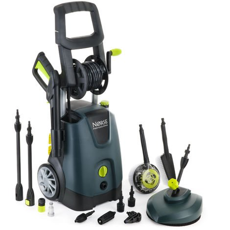 Norse SK135 - 205 Bar, 3000 psi Electric Pressure Washer / Power Jet with Patio Cleaner - Car, Bike, Garden