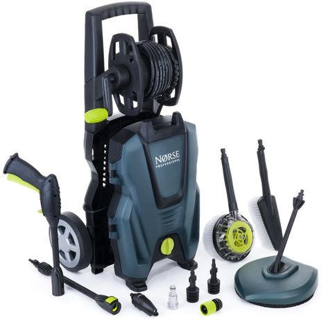 Norse SK125 - 160 Bar, 2350 psi Electric Pressure Washer / Power Jet with Patio Cleaner - Car, Bike, Garden