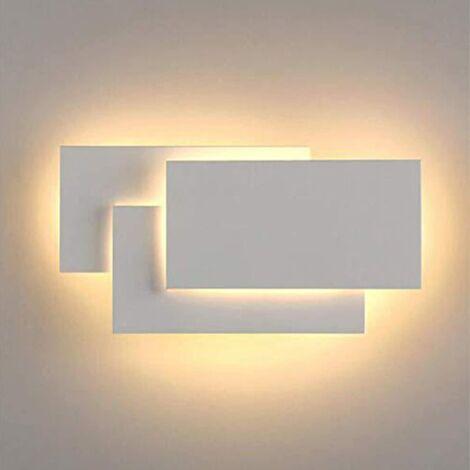 Lámpara de Pared LED Interior 24W Lámpara de Pared Moderna Aplique de Pared Blanco Cálido 3 en 1 Luz de Pared para Sala de Estar Dormitorio Escalera Pasillo Blanco