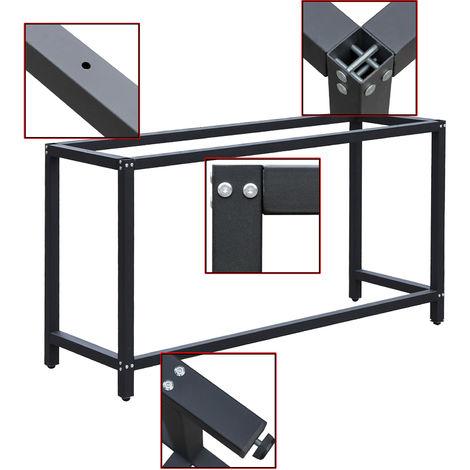 Werkbankgestell B50xL100xH80cm Tischgestell Arbeitstisch Werkbank Packtisch Tisch Gestell