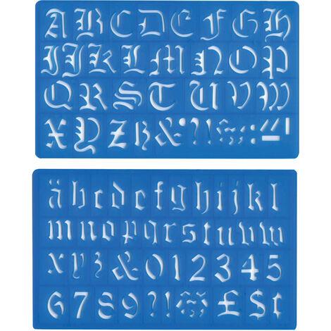 Major Brushes 30mm Old English Lettering Stencil Set