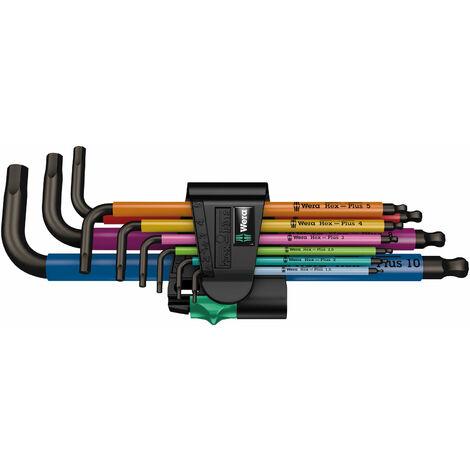 Wera 05073593001 950 SPKL/9 SM N Multicoloured Metric L-Keys, 9-Piece Set