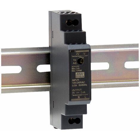 Mean Well HDR-15-12 15W Ultra Slim DIN Rail PSU
