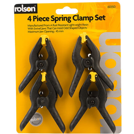 Rolson 60350 4pc 90mm Spring Clamp Set