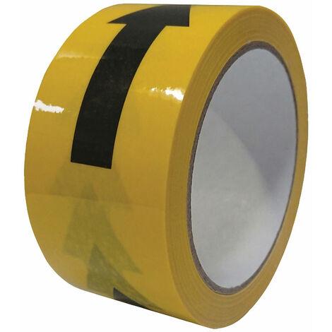 Faithfull 06525033BY-ARR Laminated Hazard TapeArrows Blk/Yell 50mm x 33m