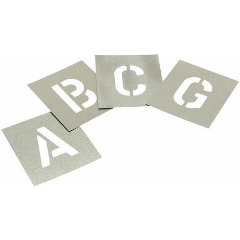 Stencils L112 Set of Zinc Stencils - Letters 1.1/2in