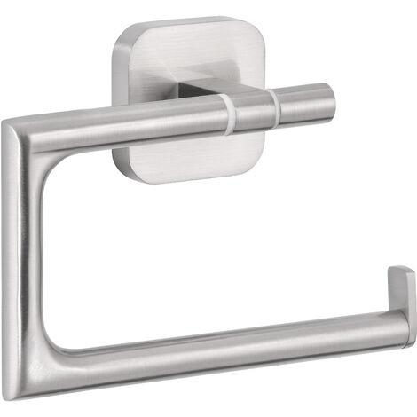 tesa Esteetic Dérouleur papier toilette, sans perçage, adhésif, inoxydable, 9,9cm x 13,2cm x 4,5cm