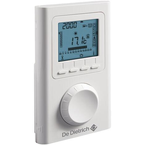 Thermostat dAmbiance Filaire Contact sec Programmable AD 137 De Dietrich Compatible toutes chaudières