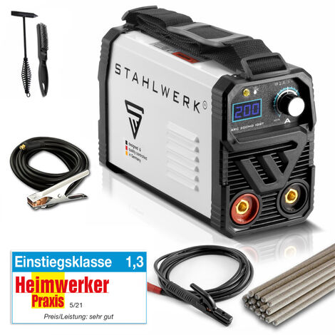 STAHLWERK ARC 200 MD IGBT - machine à souder DC MMA avec 200 ampères très compacte, garantie* du fabricant de 7 ans