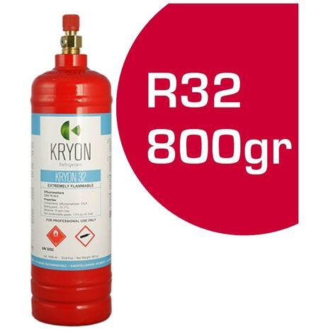 BOMBOLA BOMBOLETTA GAS REFRIGERANTE CLIMATIZZATORE CONDIZIONATORE R32 800gr 1lt