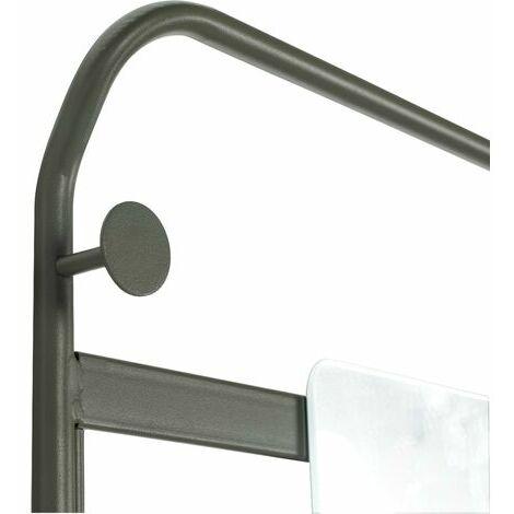 5461 Étagère de salle de bain suspendue miroir,vert