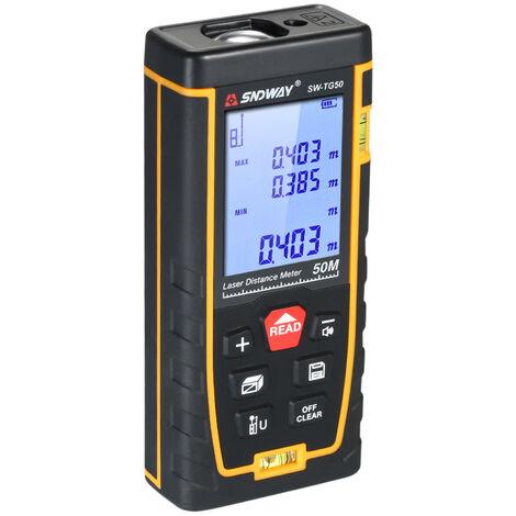 SNDWAY, Medidor de distancia laser digital de mano, telemetro,50m