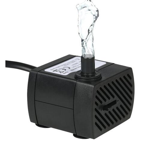 Bomba de agua sumergible, cable de alimentacion de 4.9 pies (1.5 m), AC220-240V, 280L/H 4W