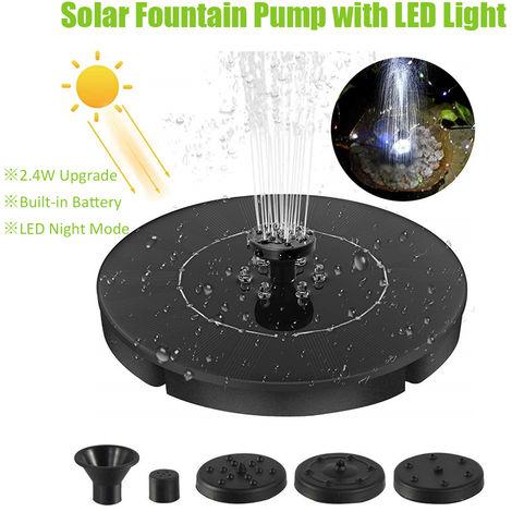 2.4W LED Solar, bomba de fuente, la luz de flotacion del LED Fuente