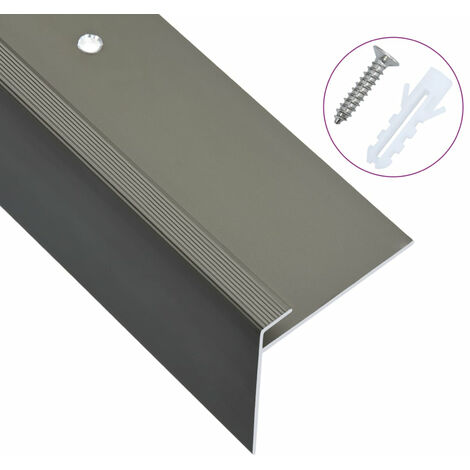 Cantoneras de escalera forma de F 15 uds aluminio marron 100 cm