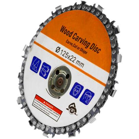Disco Carving Arbor lavorazione del legno da 5 pollici 14 denti Grinder Disco catena 22 millimetri per 125 millimetri Angle Grinder e sega circolare