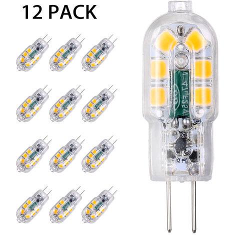 Tomshine AC / DC 12V 3W LED G4 Birne Ersatz Equivalent Von Bis 30W Halogen-Lampe zur Einsparung von Energie Bi-Pin Basis Unbreakable Ersatzlampe Der 360 ¡ã Abstrahlwinkel von 160lm Nein Dimmbar Nein Flicker-Pack 12 (3000K Warm White), 12st