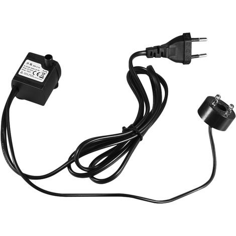 Submersible Water Pump with 4 LED Light Ultra Quiet Hydroponics 4.9ft (1.5m) Power Cord EU Plug