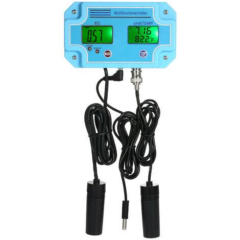 Professional 3 in 1 pH/EC/TEMP Meter Water Detector Multi-parameter Digital LCD Tri-Meter Multi-function