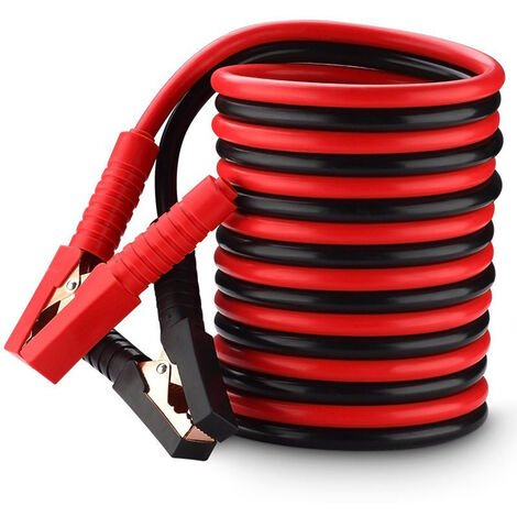 Booster Jumper Cables with Full Insulated Cover Clamps Fine Copper Cable Emergency Power Battery Starter