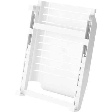 Refrigerator Storage Bag Rack Ziplock Bag Organizer Fridge Organizer Freshness Protection Package Orbital Rack,model:White