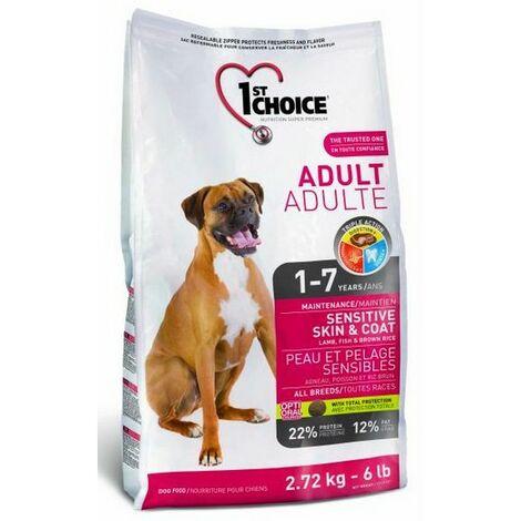 1st Choice adulte sensible toutes races Désignation : 1st Choice adulte   Conditionnement : 15 kg 1st Choice 22715