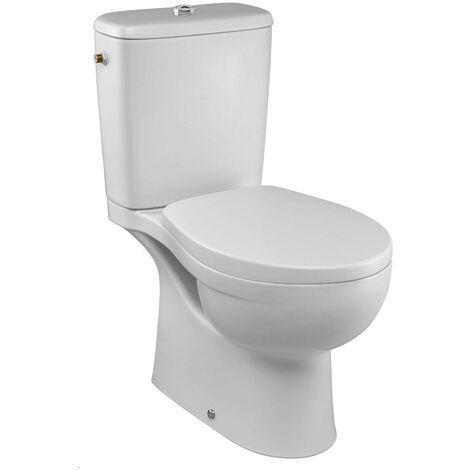 Pack WC Patio sans bride Sortie horizontale abattant standard-Blanc