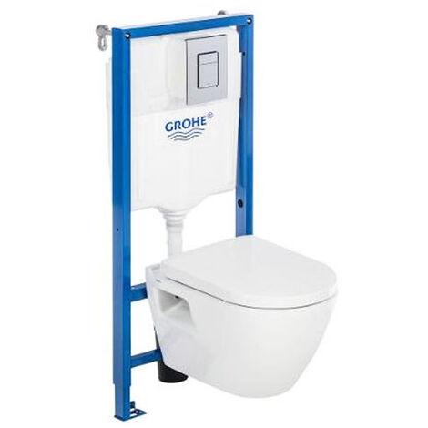 Pack Bati WC Grohe Solido Perfect Compact+Manchon O100/90