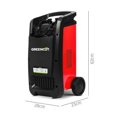 Cargador de batería multifunción 12V/24V 50A para coche y moto- GREENCUT