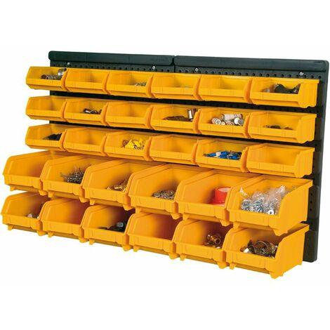 Pannello portaminuterie con 30 contenitori 323