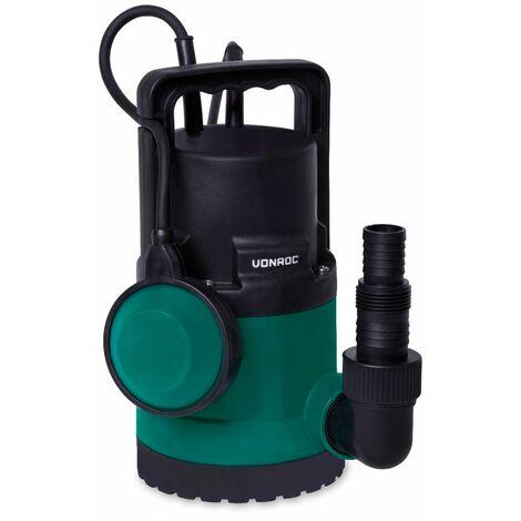 Bomba sumergible VONROC/Bomba de agua 300W - 6500l/h - Para agua limpia y ligeramente contaminada - Con interruptor de flotador