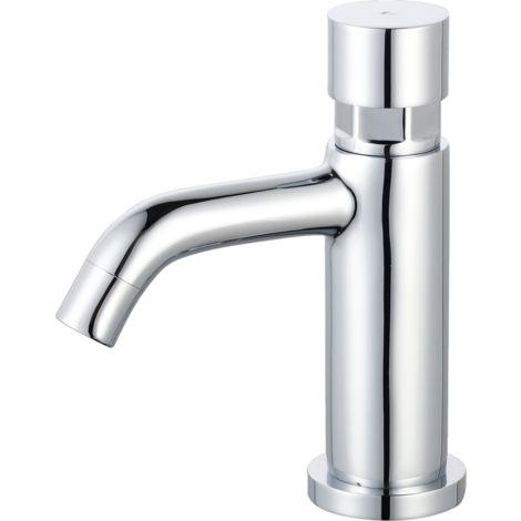 Cilindro push robinet lave mains chrome eau froide - Chromé