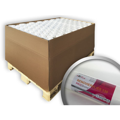 Non-woven lining paper for renovation purposes 130 g Profhome 399-130 smooth paintable wallcovering 96 rolls 19296 sq ft (1800 sqm)