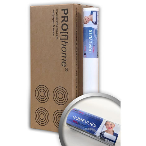 Profhome non woven wall liner 120 g HomeVlies non woven lining paper for painting 4 rolls 228 sq ft (21 sqm)