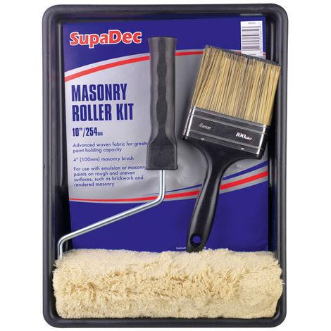 "Masonary Paint Roller Kit with 4"" Brush"