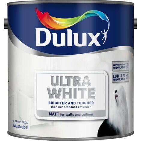 Dulux Matt Ultra White (select size)