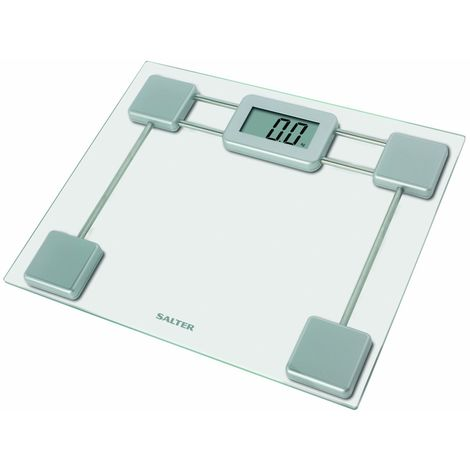 Salter Compact Glass Electronic Bathroom Scale 9081Sv3R